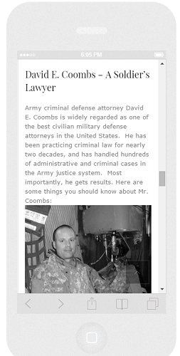 David E Coombs Law Responsive 1