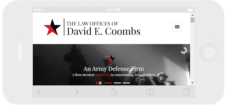 David E Coombs Law Responsive 2