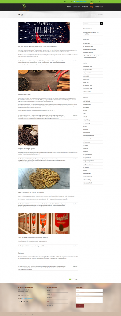 SPice Root Blog Archive