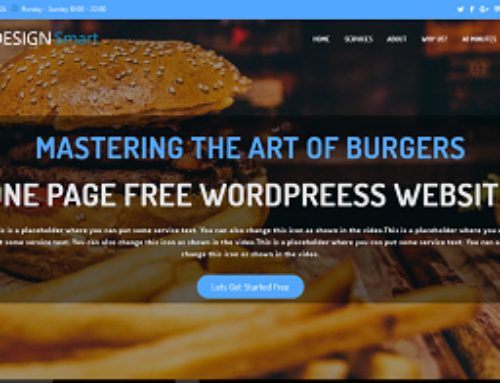 Free One Page WordPress Website Tutorial