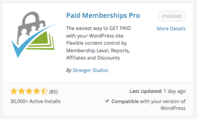 Redirect users Paid Memberships Pro